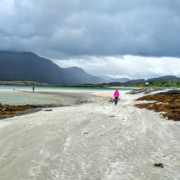 4 sierpnia, plaże Glassilaun i Lettergesh